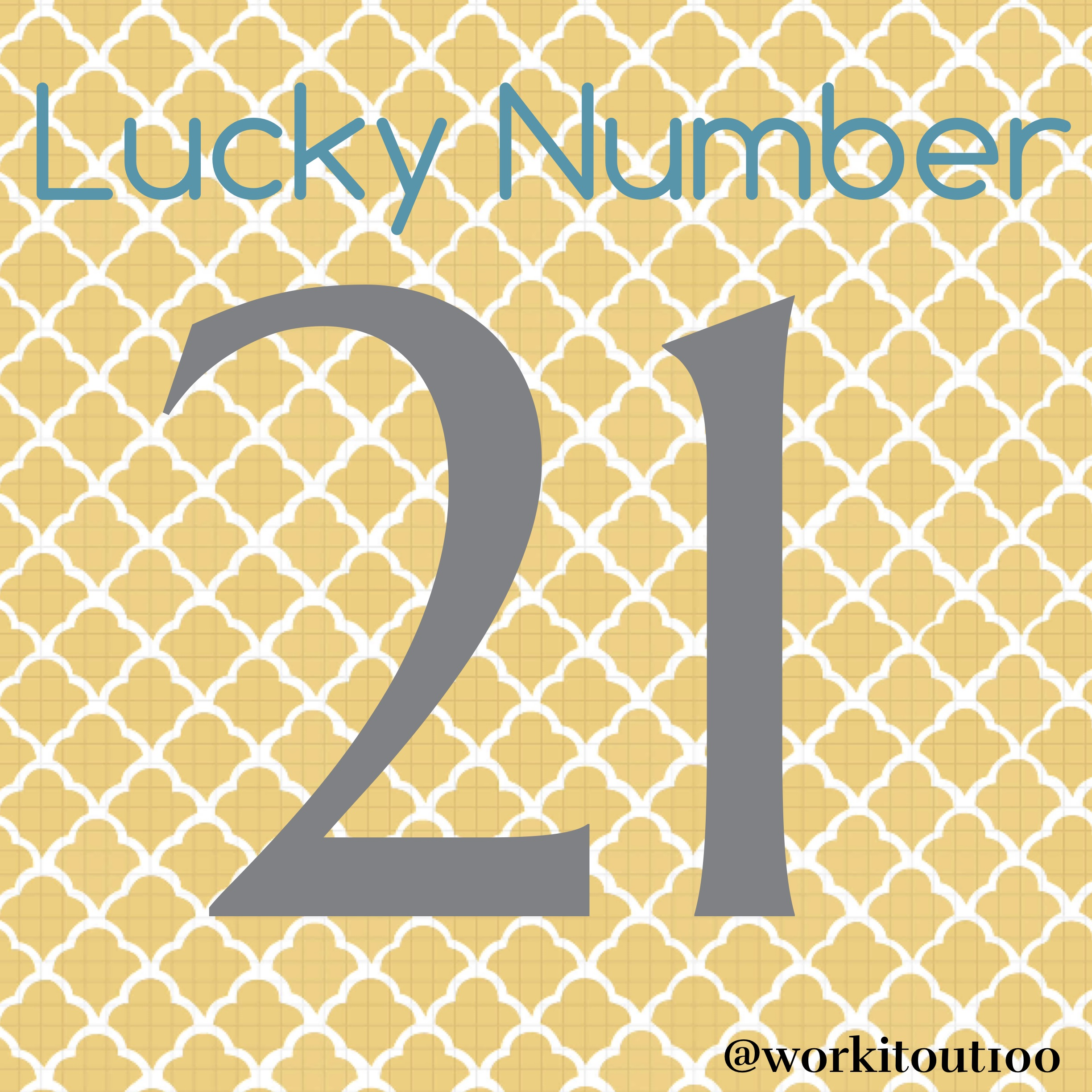 Lucky # 21 | I Am a Happy on